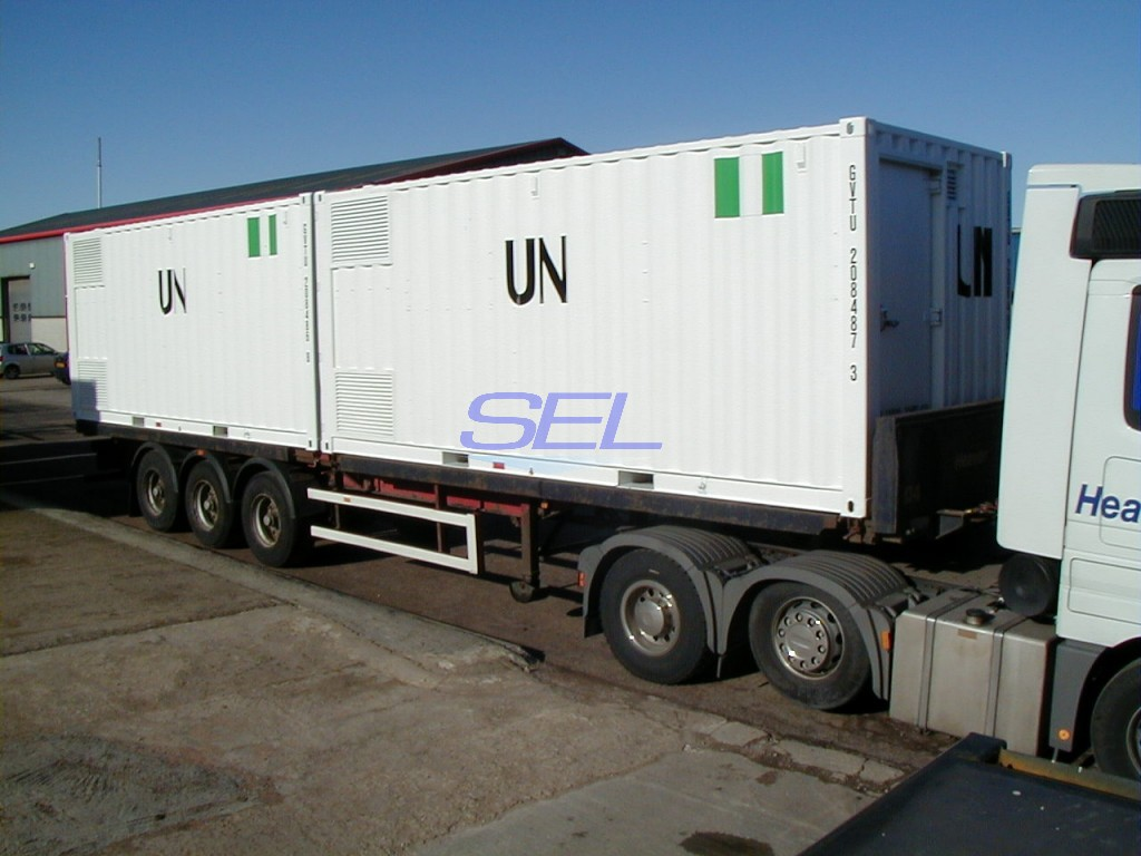 Field Support Containers En Route To U.N. African Mission