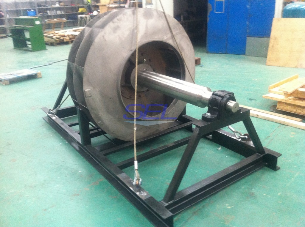 Skid For Fan Shaft Assembly